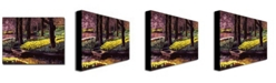 "Trademark Global David Lloyd Glover 'Daffodil Park' Canvas Art - 24"" x 18"""