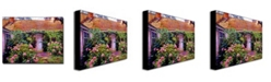 "Trademark Global David Lloyd Glover 'Hydrangea Cottage' Canvas Art - 47"" x 35"""