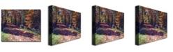 "Trademark Global David Lloyd Glover 'Old Farmhouse Road' Canvas Art - 24"" x 18"""