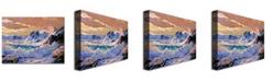 "Trademark Global David Lloyd Glover 'Storm on Pacific Coast' Canvas Art - 47"" x 35"""