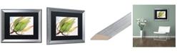 """Trademark Global Jennifer Redstreake 'Flower Pod' Matted Framed Art - 16"""" x 20"""""""