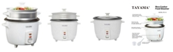 Tayama RC-8 Rice Cooker with Steam Tray 8 Cup