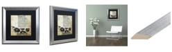 "Trademark Global Color Bakery 'Paris Bath I' Matted Framed Art - 16"" x 16"""