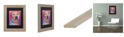 """Trademark Global Dean Russo 'Chancey' Matted Framed Art - 11"""" x 14"""""""