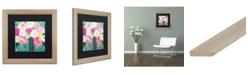 """Trademark Global Carrie Schmitt 'Botanical Splash' Matted Framed Art - 16"""" x 16"""""""