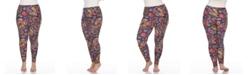 White Mark Plus Size Printed Leggings