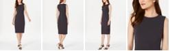Calvin Klein Petite Scuba Crepe Sheath Dress