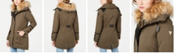 GUESS Hooded Faux-Fur-Trim Anorak, Created for Macy's