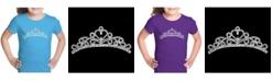 LA Pop Art Girl's Word Art T-Shirt - Princess Tiara