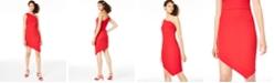 Crystal Doll Juniors' Asymmetrical One-Shoulder Bodycon Dress