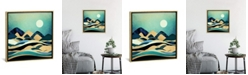 """iCanvas Emerald Evening by Spacefrog Designs Gallery-Wrapped Canvas Print - 18"""" x 18"""" x 0.75"""""""