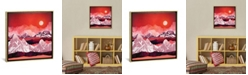 """iCanvas Scarlet Glow by Spacefrog Designs Gallery-Wrapped Canvas Print - 37"""" x 37"""" x 0.75"""""""