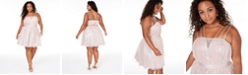 City Studios Trendy Plus Size Shimmer Fit & Flare Dress