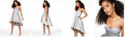 B Darlin Juniors' Taffeta Ladder-Back Dress, Created for Macy's