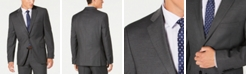 Alfani Men's Slim-Fit Performance Stretch Gray Mini Check Suit Separate Jacket, Created for Macy's