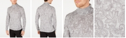 Tasso Elba Men's Paisley Supima Cotton Turtleneck, Created for Macy's