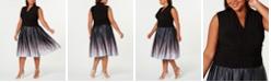 SL Fashions Plus Size Ruched-Waist Dress