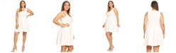 White Mark Women's Plus Size Crystal Dress