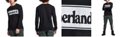 Timberland Men's Linear Logo Graphic Long Sleeve T-Shirt