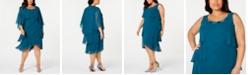 SL Fashions Plus Size Tiered Dress & Jacket