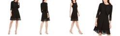 Jessica Howard Illusion-Detail Fit & Flare Dress And Jacket