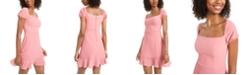 B Darlin Juniors' Flounce-Hem A-Line Dress, Created for Macy's
