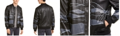 Alfani Men's Faux-Leather Bomber Jacket, Created For Macy's