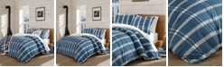 Eddie Bauer Taylor Plaid Navy Duvet Cover Set, Full/Queen