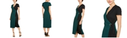 INC International Concepts I.N.C. Colorblocked Faux-Wrap Dress, Created for Macy's