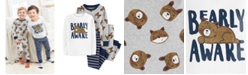Carter's Toddler Boys 4-Pc. Cotton Bearly Awake Pajamas Set