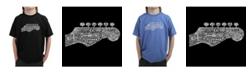 LA Pop Art Boy's Word Art T-Shirt - Guitar Head