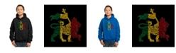 LA Pop Art Boy's Word Art Hoodie, One Love