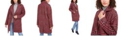 Tommy Hilfiger Drop Shoulder Plaid Reefer Coat