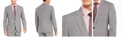HUGO Men's Slim-Fit Medium Gray Check Suit Separate Jacket