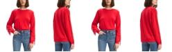 Levi's Women's Fringed Crewneck Sweatshirt