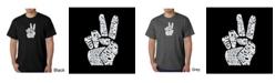 LA Pop Art Men's Word Art T-Shirt - Peace Fingers