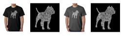 LA Pop Art Men's Word Art T-Shirt - Pit bull