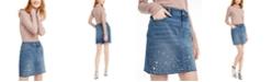 INC International Concepts I.N.C. Shimmer Turtleneck & Embellished Denim Skirt, Created For Macy's