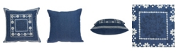 Parkland Collection Ronak Traditional Blue Pillow Cover with Polyester Insert