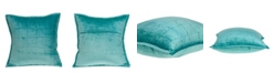 Parkland Collection Gorty Transitional Aqua Solid Quilted Pillow Cover