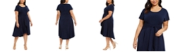 Robbie Bee Plus Size High-Low Dress