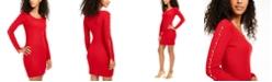 BCX Juniors' Split-Sleeve Bodycon Sweater Dress