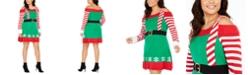 Planet Gold Derek Heart Trendy Plus Size Cold-Shoulder Elf Dress