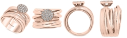 EFFY Collection EFFY® Diamond Cluster Cross-Over Design Ring (1/3 ct. t.w.) in 14k Rose Gold