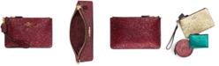 COACH Glitter Leather Small Wristlet