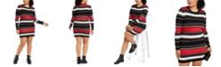 Planet Gold Derek Heart Trendy Plus Size Striped Bodycon Dress