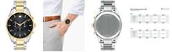 Movado Men's Swiss Chronograph Stratus Two-Tone Stainless Steel Bracelet Watch 42mm