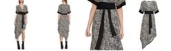 BCBGMAXAZRIA Leopard-Print Handkerchief-Hem Dress