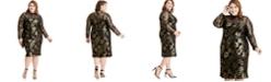 RACHEL Rachel Roy Plus Size Metallic Mock-Neck Dress