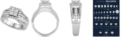 Macy's Diamond Quad Cluster Engagement Ring (2 ct. t.w.) in 14k White Gold